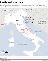 Earthquake Map Usgs Earthquake In Central Italy Kills Dozens Business Insider