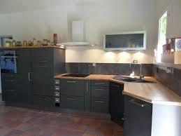 cuisine noir laqué plan de travail bois plan de travail noir laqu cool city cuisine duangle complete m noir