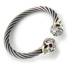 bangle bracelet beads images Graffiti vintage skull cable bangle bracelet bill 39 s way bill jpeg