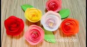 paper roses twisted paper how to make an easy out of paper idunn