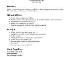 dental resume exles daycare attendant resume exles templates assistant
