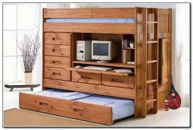 Bunk Bed With Desk Bunk Beds With Desk And Sofa Underneath Full - Wood bunk beds with desk and dresser