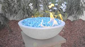 Concrete Fire Pit by Grey Concrete Fire Bowl Youtube