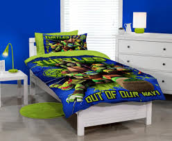 Ninja Turtle Bedding Bright Blue Wall Painting With Ninja Turtle Twin Bed Set