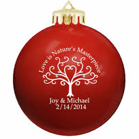 personalized wedding christmas ornaments personalized ornament wedding favors