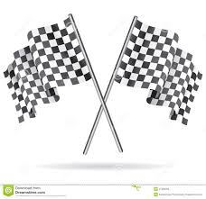 Checkered Racing Flags Waving Checkered Racing Flag Vector Illustration Stock Vector