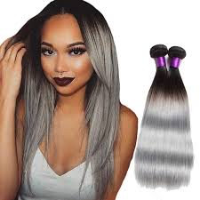 silver hair extensions two tone silver gray human hair extensions human hair extensions
