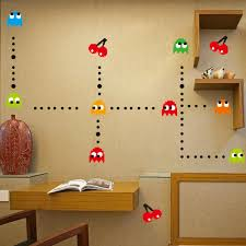 online get cheap wall decals men aliexpress com alibaba group pac man pac man removable peel n stick wall decal classic arcade vedio game diy
