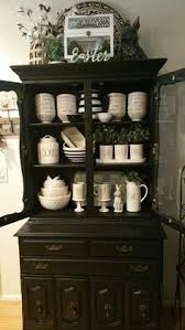 Display Hutch Rae Dunn Collection Rae Dunn Display Farmhouse Decor White