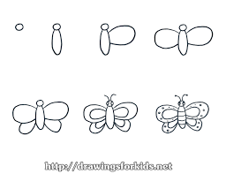 how to draw a butterfly for drawingsforkids