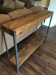 Wood Sofa Table Wood And Metal Sofa Table Visionexchange Co