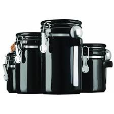 black kitchen canisters kitchen canisters sets black