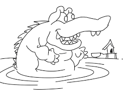 coloring book crocodile 1080p