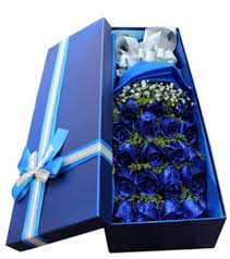 blue roses blue roses in luxury box special you send flowers to china