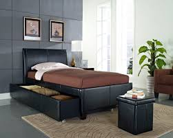 Black Twin Bedroom Furniture Bedroom Charming Wooden Trundle Beds Plus Drawers For Bedroom