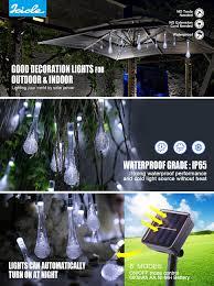 Best Solar String Lights by Icicle Solar Christmas String Lights 15 7ft 8 Light Modes 20 Led