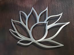 delightful decoration wall metal art marvelous idea lotus flower
