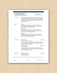 resume format word docx converter the smith design professional resume template instant download