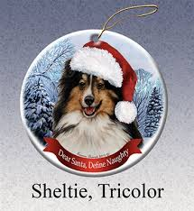australian shepherd ornament sheltie tri color holiday ornament made in the usa