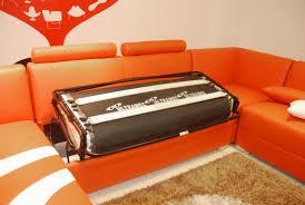 canapé d angle orange canapé convertible rome canapé d angle lit en cuir 7 personnes