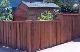 wooden cedar privacy fence u2014 farmhouse design and furniture