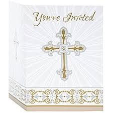 religious invitations gold silver radiant cross religious invitations 8ct