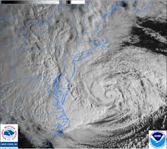 Satellite Weather Map Hurricane Sandy