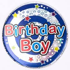 birthday boy holographic birthday boy birthday badge only 99p