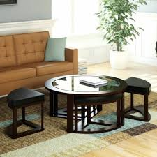 Table With Ottoman Underneath by My Favorite So Far Glass Coffee Table With Ottomans Underneath