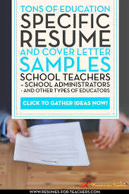 Sample Kindergarten Teacher Resume 45 Best Teacher Resumes Images On Pinterest Teaching Resume