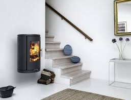 wood heating stove contemporary cast iron round morsø 7370
