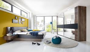 Schlafzimmer Komplett 140 Cm Bett 4 Tlg Schlafzimmer In Schlammeiche Nb Schwebetürenschrank B 250