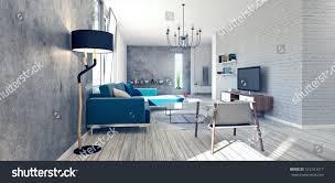 3d apartment design modern interior design apartment 3d rendering stock illustration
