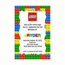 lego theme birthday invitation printable 4x6 customized