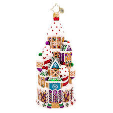 christopher radko chateau gingerbread castle retired