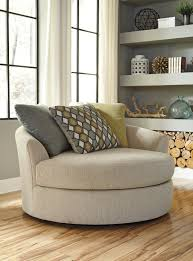 Swivel Chairs For Living Room by Buy Casheral Linen Oversized Swivel Accent Chair By Benchcraft