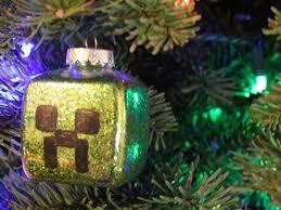 minecraft creeper ornament diy geeky goodies