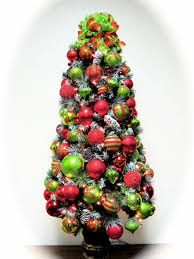 fun bright colorful glittering red green lime christmas tree