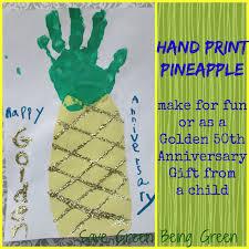 golden anniversary gift ideas save green being green print pineapple golden anniversary