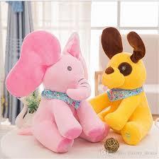 Singing Stuffed Animals 2018 Peek A Boo Elephant Baby Plush Singing Stuffed Animated