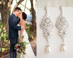 bridal chandelier earrings chandelier earrings etsy