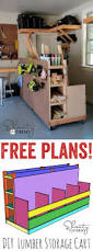 Free Wooden Garage Shelf Plans by Best 25 Lumber Storage Ideas On Pinterest Wood Storage Rack
