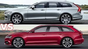 audi s6 vs 2017 volvo v90 vs 2017 audi a6 avant exterior interior drive