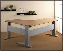 Diy Adjustable Height Desk by Electric Height Adjustable Desk Diy Desk Home Design Ideas