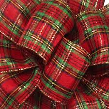 wired christmas ribbon wired traditional plaid ribbon 40 2 5 w x 50yards plaid