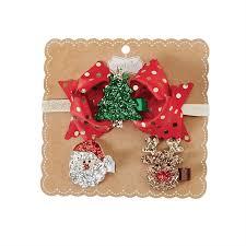 Mud Pie Christmas Ornaments Glitter Clip Headband Set By Mud Pie