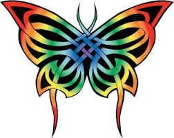 celtic butterfly rainbow all things