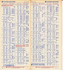 Allegiant Air Route Map Airline Timetables United Airlines October 1975