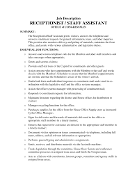 Office Manager Job Description Resume by Medical Assistant Job Duties For Resume Free Resume Example And