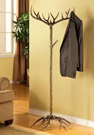 antler coat hat rack tree stand metal rustic deer buck cabin lodge